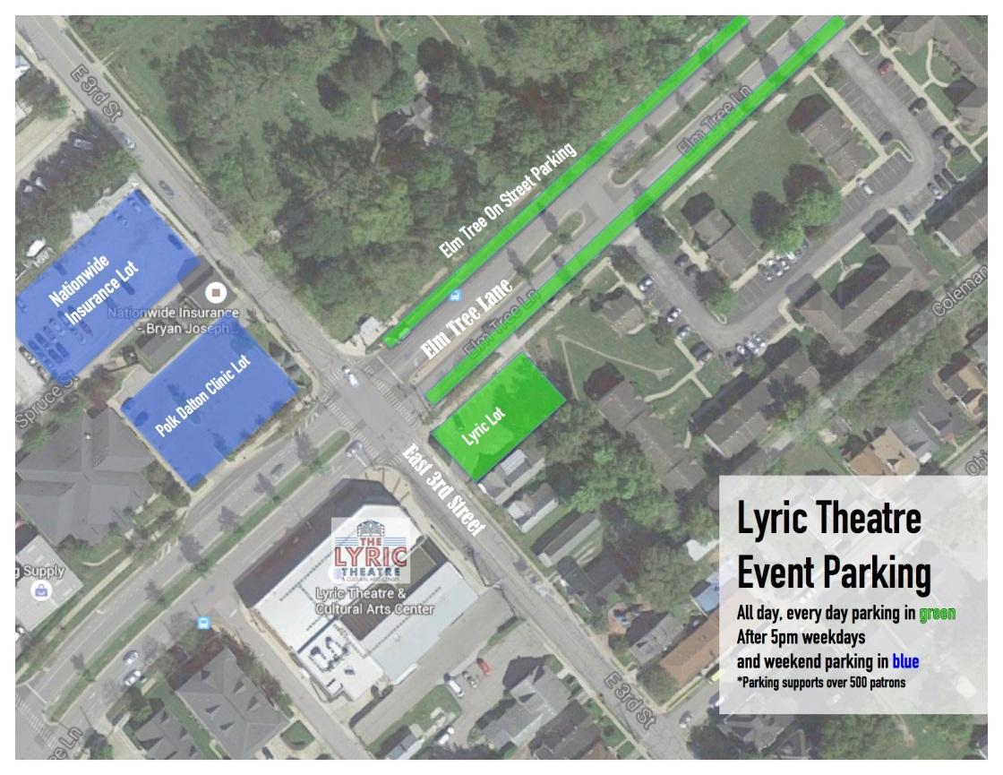 Lyric Parking Map 1
